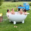 Ванна на дровах для купания на природе