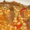Ароматная перловка в томатном соусе с куриными сердечками