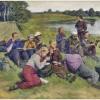 Пионерский лагерь в рисунках
